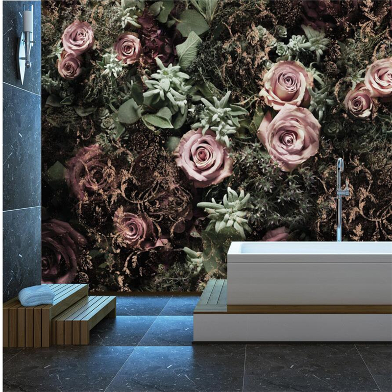 [해외]beibehang papel parede 사용자 정의 벽지 스칸디 나비아 추상 꽃 rosedecorative 배경 벽 벽지 벽/beibehang papel parede  Custom wallpaper  Scandinavian abstract floral rose