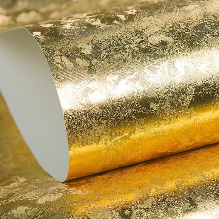 [해외]10M Gold / Silver Foil 엠보싱 된 질감 벽지, 천장 및 벽 & amp; 샵 3D 배경 왈자 럭셔리 글리터 장식/10M Gold/Silver Foil Brushed Embossed Texture Wallpaper,Luxury Glitter