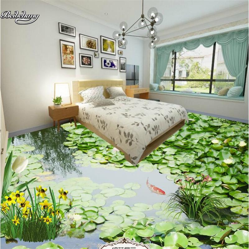 [해외]beibehang 3d 사용자 정의 필름 대규모 벽화 목가적 인 녹색 연못 3D 층 방수 마모 방지 두꺼운 녹색 PVC 필름/beibehang 3d custom film large-scale murals pastoral green pond 3D floor wat