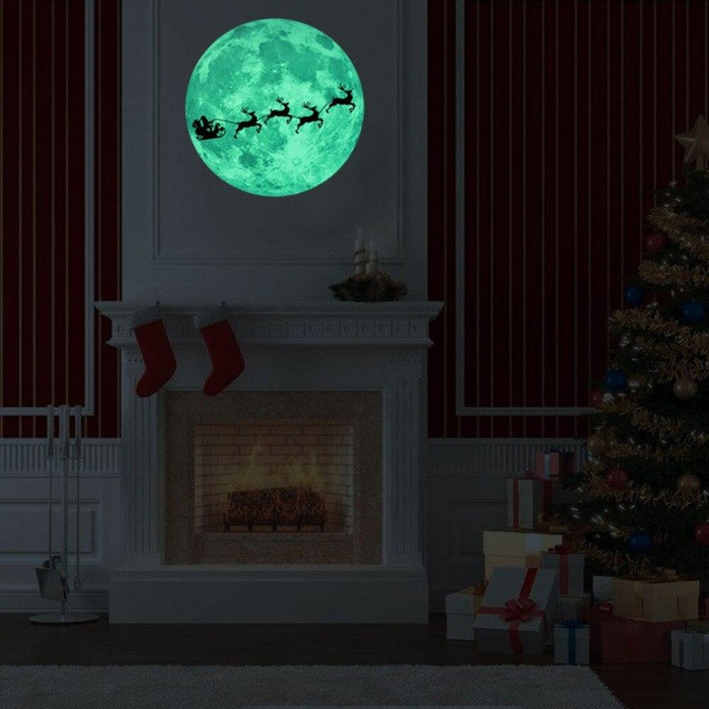 [해외]12 / 20 / 30 / 40cm 3D 빛나는 문신 스티커 이동식 DIY의 광선 문틀 스티커 어린이를형광등의 집 침실/12/20/30/40cm 3D Luminous Moon Wall Sticker Removable DIY Glow Moon Wall Sticke