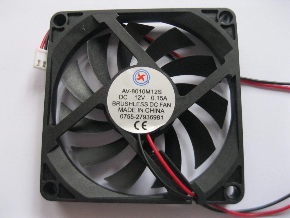 [해외]1 개 브러시리스 DC 냉각 팬 11 블레이드 12V 8010S 80x80x10mm 2 전선/1 pcs Brushless DC Cooling Fan 11 Blade 12V 8010S 80x80x10mm 2 Wires