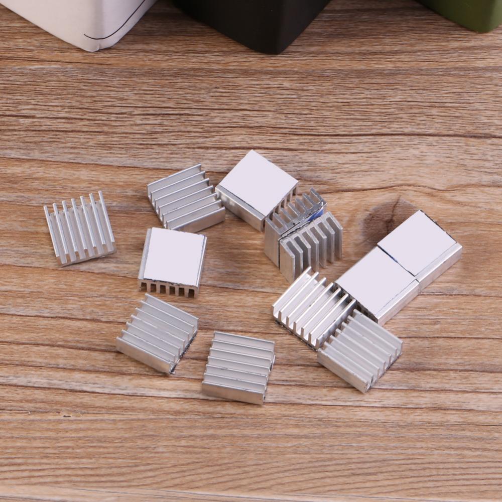 [해외]12PCS / set 미니 알루미늄 방열판 좋은 열 전도도 그릴 방열판 냉각 Back14에 핀 접착제 * 14 * 6mm/12Pcs/set Mini Aluminium Heat Sink Good Thermal Conductivity Grille Heatsink C