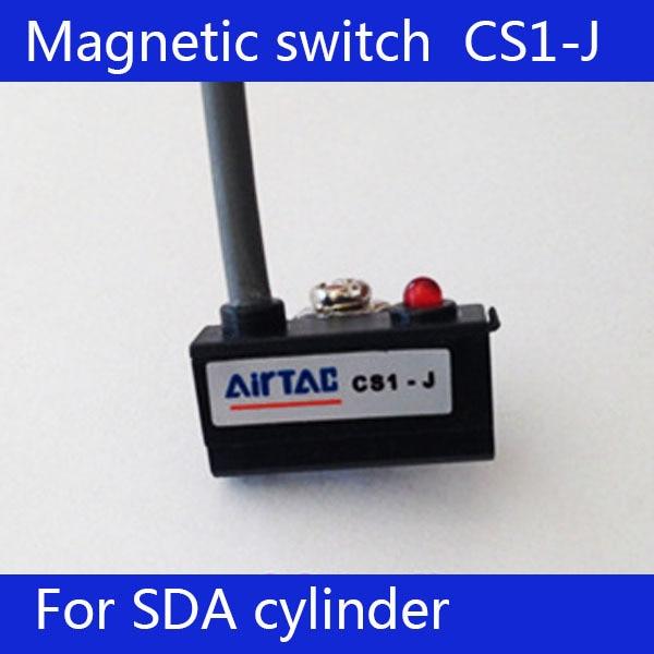[해외]2pcs CS1-J 빨간색 LED 볼 압 실린더 자기 센서 리드 스위치, DC AC 5V - 120V/2pcs   CS1-J Red LED Pneumatic Cylinder Magnetic Sensor Reed Switch ,DC AC 5V - 120V