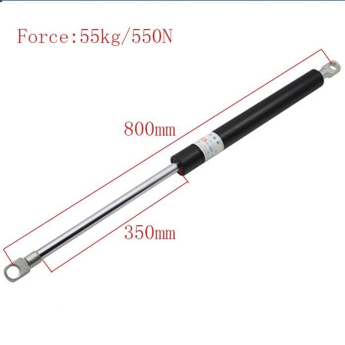 [해외]?가스 봄 텔레스코픽 유압 바 버퍼 지원로드 댐퍼 질소 압력 바 800mm * 55kg/ Gas Spring Telescopic Hydraulic Bars Buffer Support Rod Damper Nitrogen Pressure Bar 800mm*55kg