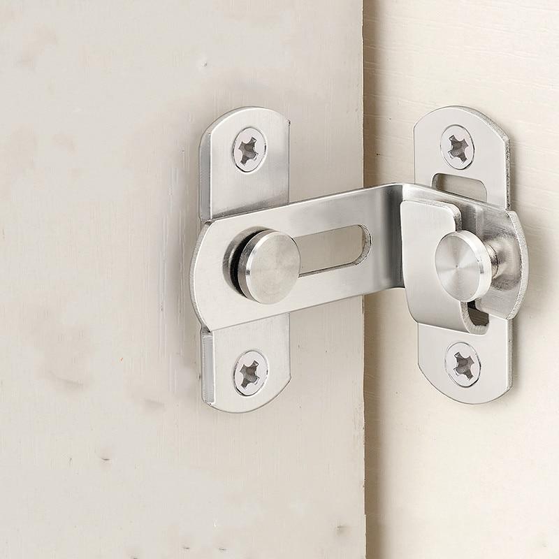 [해외]10PCS 스테인리스 슬라이딩 도어 후크 잠금 장치, 90 각도 Hasp, 쉬운 설치, 표면 장착, 도난 방지, 안전, 문 하드웨어/10PCS Stainless steel sliding door hook lock,90 angle Hasp,For easy to i