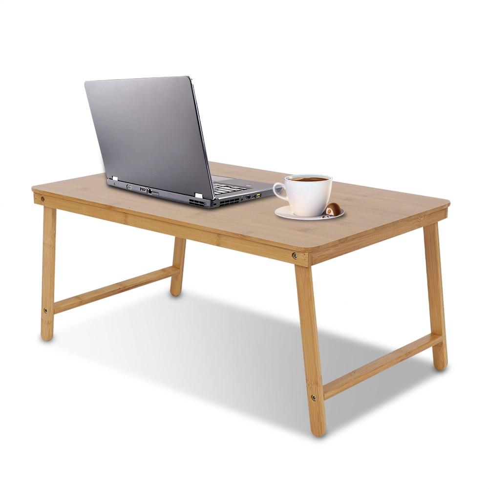 [해외]Round Corner Design Portable Folding Bamboo Laptop Table Safer Laptop Table for Bed Portable Folding Bamboo Laptop Table/Round Corner Design Porta