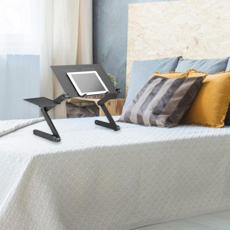 [해외]Portable Foldable Adjustable Laptop Table Folding Cooling Computer Desk workmanship 360 degree free rotation Variety of attitude/Portable Foldable