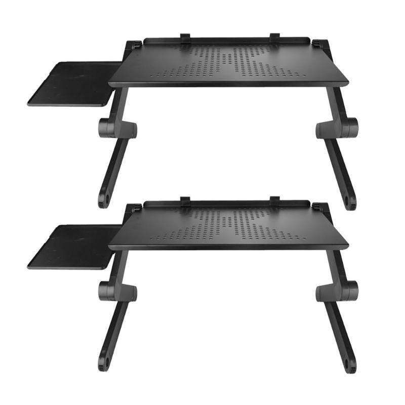[해외]Portable Mobile Laptop Standing Desk For Bed Sofa Laptop Folding Table Notebook DeskMouse Pad & Cooling Fan For Office/Portable Mobile Laptop