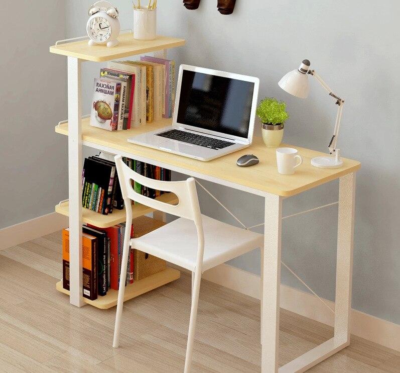 컴퓨터 책상 사무실 가정 가구 책장을 가진 단단한 나무 휴대용 퍼스널 컴퓨터 책상 130*112.7*54.6 cm 조정 가능한 새로운 뜨거운 전체 판매 2016