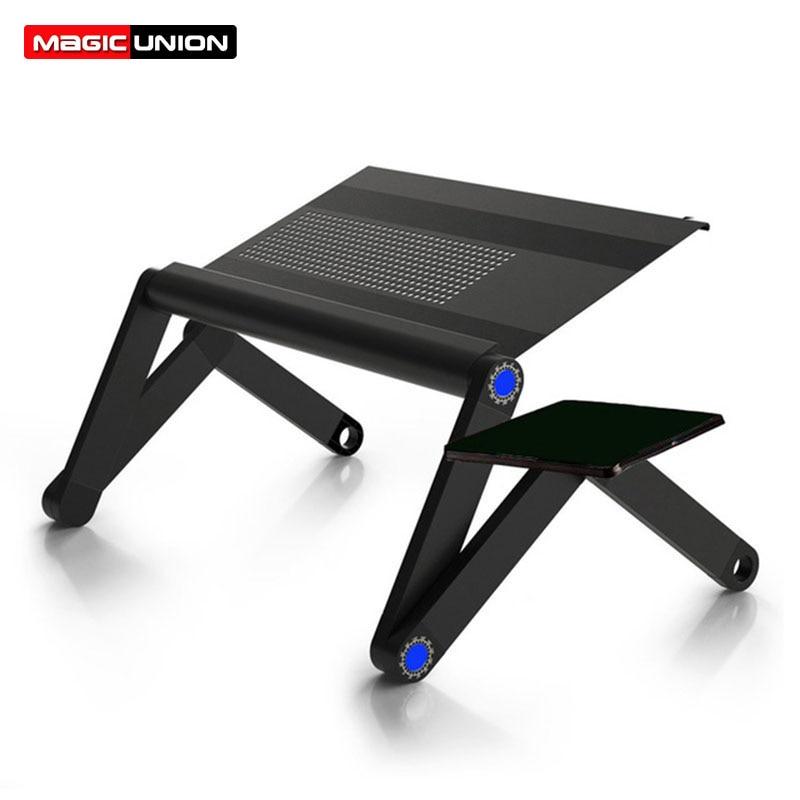 [해외]MAGIC UNION Adjustable Portable Laptop Stand Folding Table Sofa Bed Tray Computer Notebook Desk Bedroom mesaMouse Table/MAGIC UNION Adjustable Por
