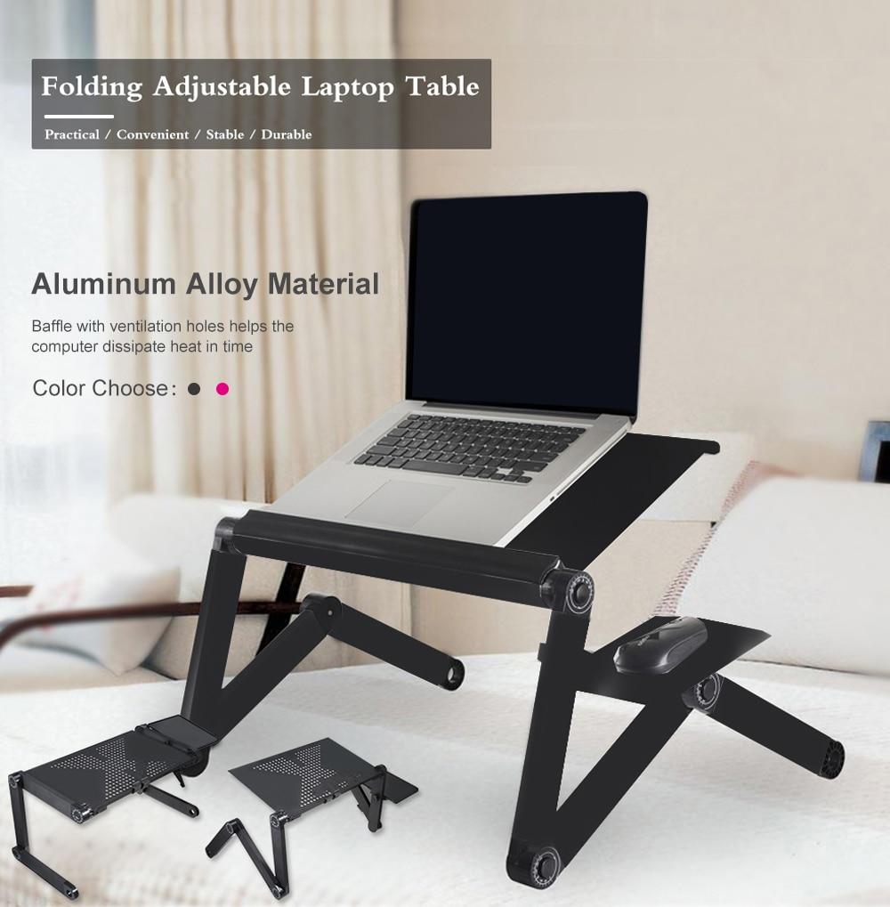 [해외]Adjustable Computer Desk Table Folding Laptop Notebook Stand Bed Tray Aluminum Alloy Portable Anti-Skid Table Z30/Adjustable Computer Desk Table F