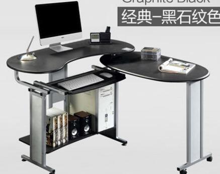 [해외]Computer desk.. Double desk corner table table household. Folding mobile environment/Computer desk.. Double desk corner table table household. Fol