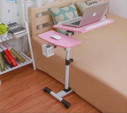 컴퓨터 책상 홈 가구 나무 + 스틸 접는 테이블 노트북 노트북 책상 soporte 노트북 메사 ordenador portatil 뜨거운