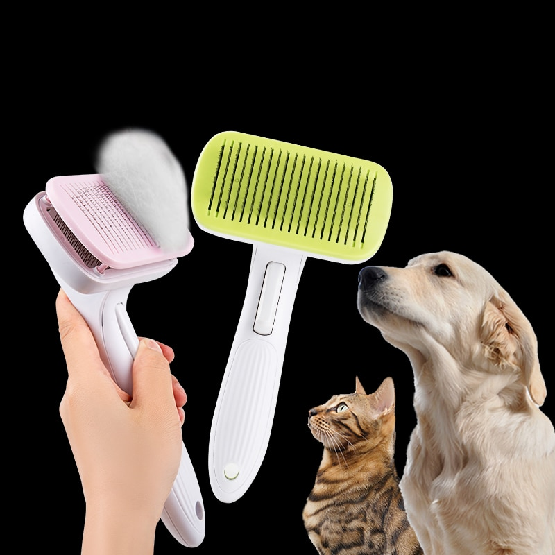 [해외]OUYXR Square Dog Brush Quick Clean Long Hair Needle Comb pet Hair Removal Rake cat brush  Grooming Tool/OUYXR Square Dog Brush Quick Cle