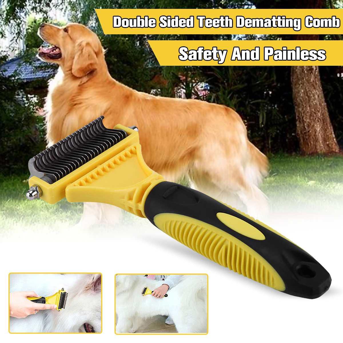 [해외]Pet Fur Knot Remover Dog Cat Hair Removal Brush Comb Double-Sided Open Trimmer Combs Professional Grooming Shedding Tools Supply/Pet Fur