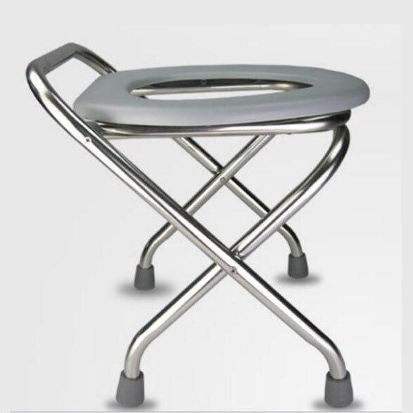 [해외]높이 스테인레스 스틸 접는 skidproof 임신 한 여자 모바일 변기 의자 세 commode 의자 앉아 의자/높이 스테인레스 스틸 접는 skidproof 임신 한 여자 모바일 변기 의자 세 commode 의자 앉아 의자