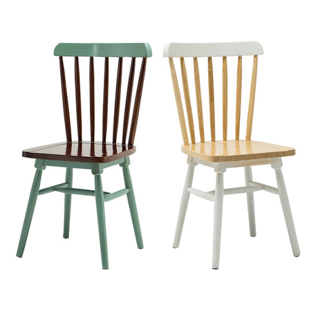 [해외]/ Cafe Chairs Cafe Furniture solid wood louis chairs coffee chair dining chair chaise nordic furniture minimalist 40*43.5*88 cm