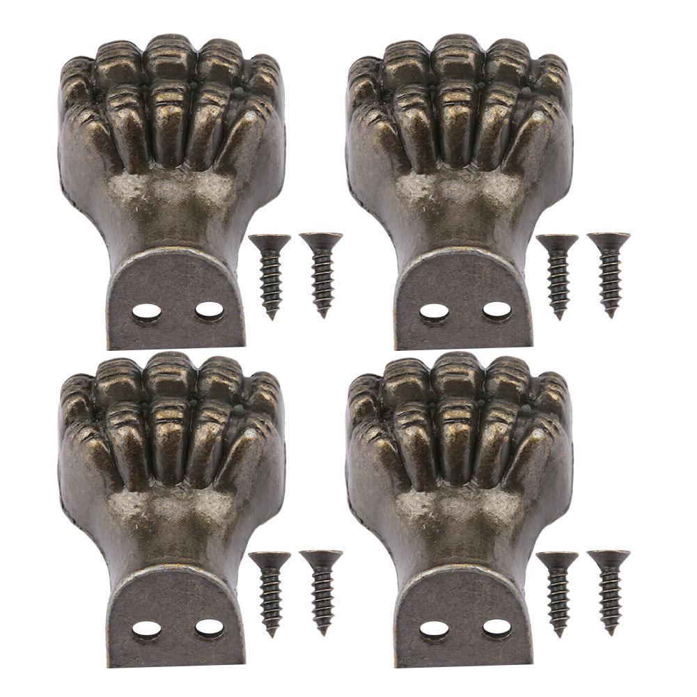 [해외]4pcs Elephant Feet Shape Jewelry Wood Box Decorative Antique Feet Leg Corner Protector Wholesale/4pcs Elephant Feet Shape Jewelry Wood Box Decorat