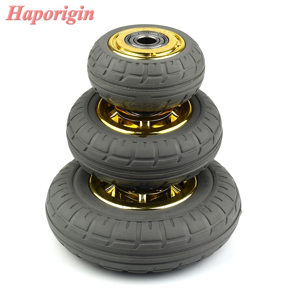 [해외]3`` Rubber Swivel Casters Industrial Castor Univeral Wheel Silence Rolling Caster Shelf Bearing Wheels Trolleys Hand Cart Pulley/3`` Rubber Swivel