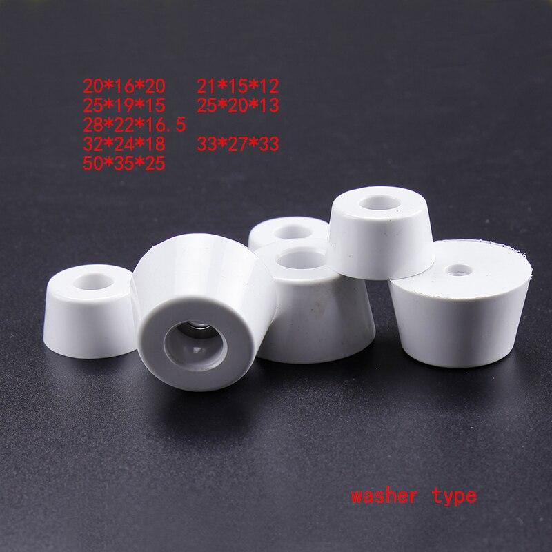 [해외]흰색 고무 피트 패드 기계 원추형 케이스 패드 오디오 소음 방지 버퍼 가구 고무 댐퍼 콘 고무 버퍼 쿠션