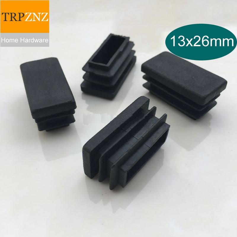[해외]13*26mm, 검은 사각형 튜브 플러그, 플라스틱 플러그, 미끄럼 방지, 테이블 의자 의자 발 패드, 가구 발 지원 파이프 내부 플러그/13*26mm, 검은 사각형 튜브 플러그, 플라스틱 플러그, 미끄럼 방지, 테이블 의자 의자 발 패드, 가