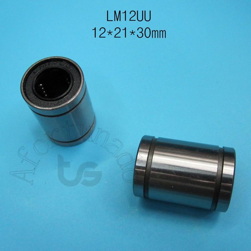 LM12UU 12x21x30mm  bearing  Free Shipping 10pcs/lot LM12UU 12mm 12mm Linear Ball Bearing Bush Bushing/LM12UU 12x21x30mm  bearing  Free S