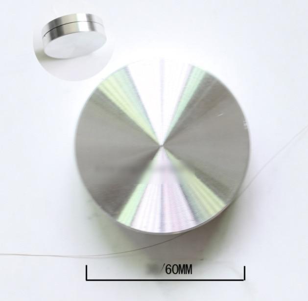 [해외]직경: 60mm 미니 알루미늄 합금 턴테이블 베어링 기본 디스플레이 공예 회전판/직경: 60mm 미니 알루미늄 합금 턴테이블 베어링 기본 디스플레이 공예 회전판