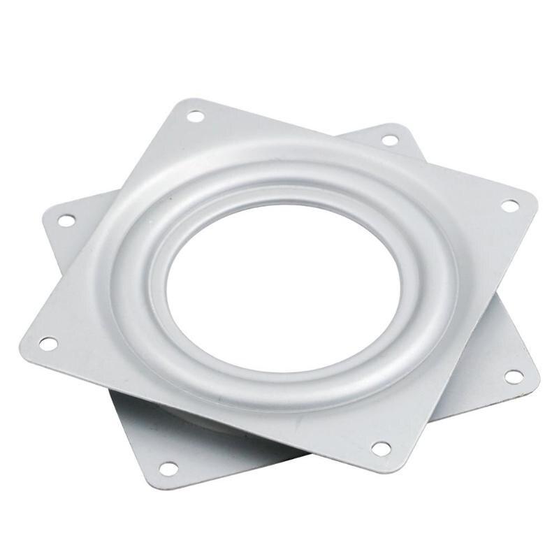 [해외]4.5 inch Mechanical Projects Square Exhibition Turntable Bearing Swivel Plate Base Hinges Hardware Fitting Desk Tool /4.5 inch Mechanical Projects