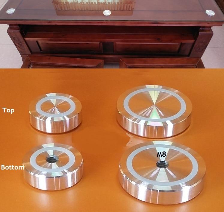 [해외]4 개/몫 10mm 두꺼운 단단한 알루미늄 원형 디스크 유리 정상 접합기 커피 차 테이블 막대기 양면 anti-slip 고무 반지/4 개/몫 10mm 두꺼운 단단한 알루미늄 원형 디스크 유리 정상 접합기 커피 차 테이블 막대기 양면 anti-s
