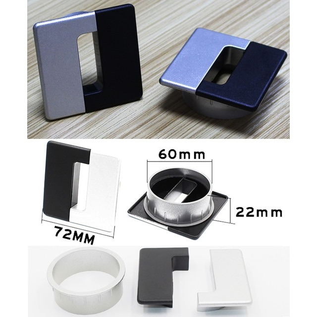 [해외]2Pcs/Lot New Design ABS Table TV Cabinet Desk Wire Cable Grommet Wire Hole Cover/2Pcs/Lot New Design ABS Table TV Cabinet Desk Wire Cable Grommet