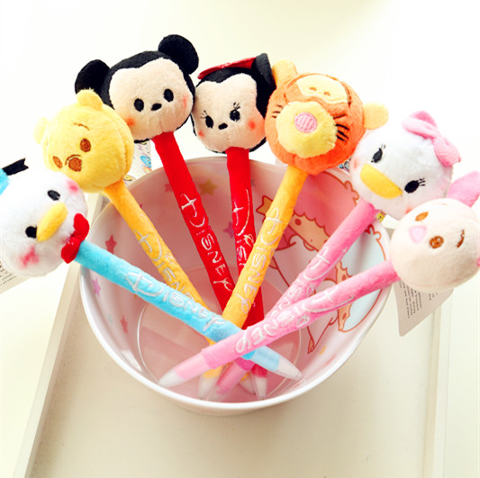 슈퍼 Q 티거 도널드 덕, 미니 미키, 봉 모양 볼펜 만화/Super Q Tigger Donald Duck, Minnie Mickey, plush shape ballpoint pen cartoon