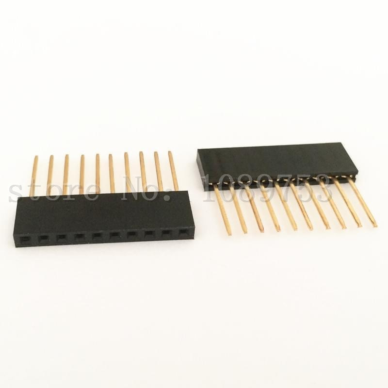 Arduino 쉴드에 대한 20Pcs 10Pin 여성 키가 큰 스택 형 헤더 커넥터 소켓/20Pcs 10Pin Female Tall Stackable Header Connector Socket For Arduino Shield Black