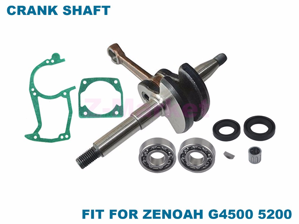 Crankshaft  848C804202  With Bearing Oil Seal Gasket for ZENOAH G4500 G5200 Chinese 45CC 52CC Chainsaw Garden Tools Parts
